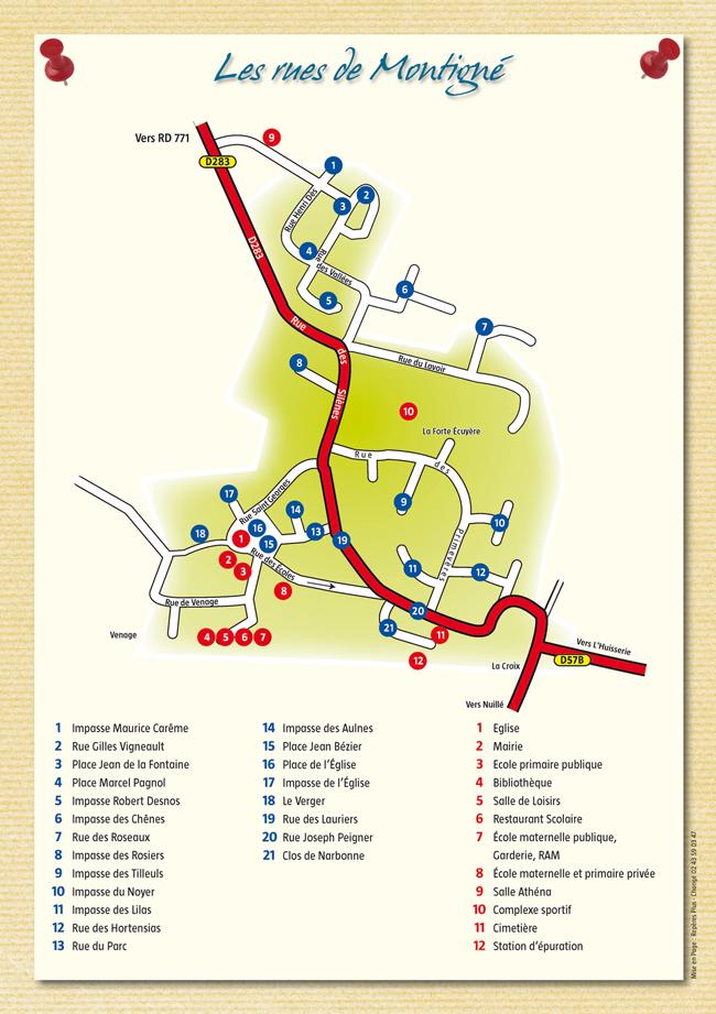 Carte du bourg